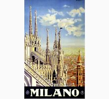 Milano Italy Vintage Travel Poster Restored T-Shirt