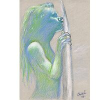 I <3 Surfer Girls - Original Pastel Artwork by Chantal Handley Photographic Print