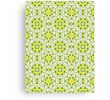 Green, Gold and White Abstract Design Pattern Canvas Print