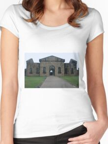 A Fearful Walk - Entry to Assembly Hall and Cells of Trial Bay Gaol Women's Fitted Scoop T-Shirt