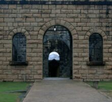 A Fearful Walk - Entry to Assembly Hall and Cells of Trial Bay Gaol Sticker