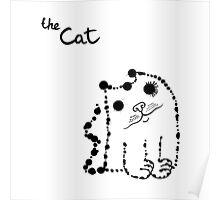 Ink splashes cat Poster