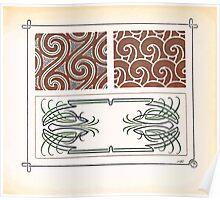 Maurice Verneuil Georges Auriol Alphonse Mucha Art Deco Nouveau Patterns Combinaisons Ornementalis 0007 Poster