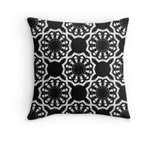 Interconnected Tribal Sunburst [B/W] Throw Pillow