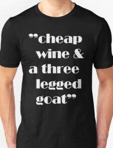 cheap wine on dark Unisex T-Shirt