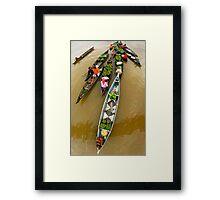 Fruits and Vegetables seller - Lokbaintan, Indonesia Framed Print
