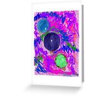 Colorful Bright Christmas Lights Greeting Card