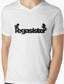 Pegasister Mens V-Neck T-Shirt