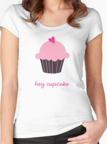 Hey Cupcake Women's Fitted Scoop T-Shirt