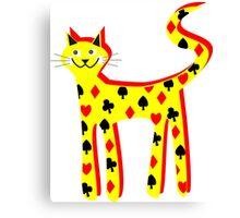 Cat cards Canvas Print