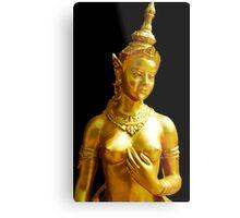 Golden Bust Metal Print