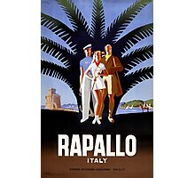 Rapallo Italy Vintage Travel Poster Photographic Print