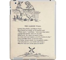 Miniature Under the Window Pictures & Rhymes for Children Kate Greenaway 1880 0042 The Garden Wall iPad Case/Skin