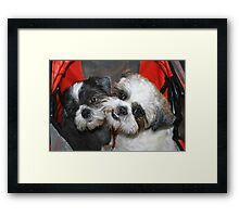 Me and my brother! Framed Print