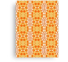 Orange, Yellow and White Abstract Design Pattern Canvas Print