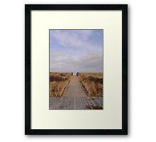 Winter Walkway Framed Print