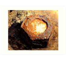 Rusty nut Art Print