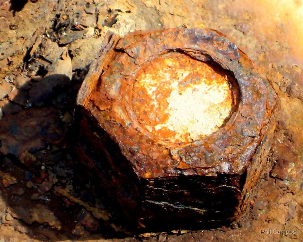 Rusty nut by Phil Campus
