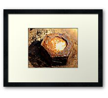 Rusty nut Framed Print