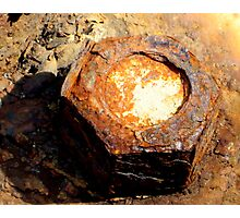 Rusty nut Photographic Print