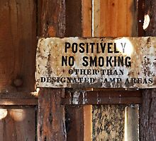 POSITIVELY NO SMOKING by Julia Washburn