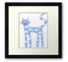 cat clouds Framed Print