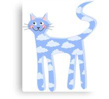 cat clouds Canvas Print