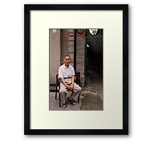 The Casual Observer - Shanghai, China Framed Print