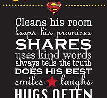 A real Superhero - family plaque  by Lauren Eldridge-Murray