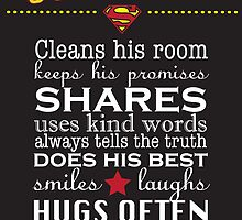 A real Superhero - family plaque  by Lauren Eldridge-Murray