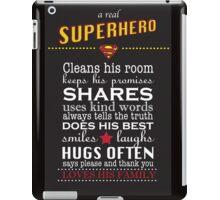 A real Superhero - family plaque  iPad Case/Skin