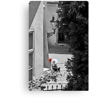 white and red hats Canvas Print
