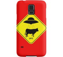 UFO traffic hazard sign Samsung Galaxy Case/Skin