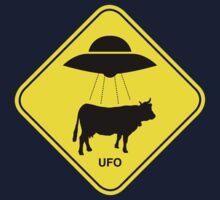 UFO traffic hazard sign Kids Clothes