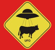 UFO traffic hazard sign T-Shirt