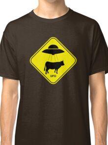 UFO traffic hazard sign Classic T-Shirt