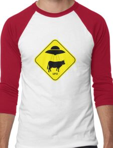 UFO traffic hazard sign Men's Baseball ¾ T-Shirt
