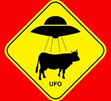 UFO traffic hazard sign by monsterplanet