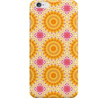 Orange, Yellow and Hot Pink Abstract Design iPhone Case/Skin