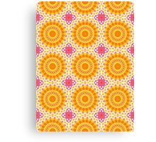 Orange, Yellow and Hot Pink Abstract Design Canvas Print