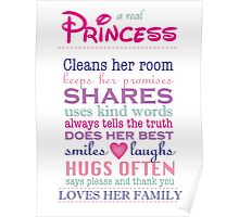 a real princess - family plaque Poster