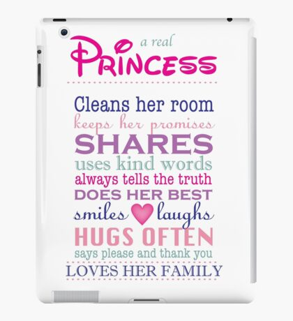 a real princess - family plaque iPad Case/Skin