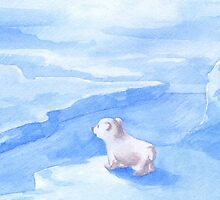 Baby Polar Bear by susanPerez