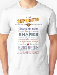 real superhero - family plaque in white T-Shirt