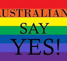 Australians Say Yes by keepcalmart