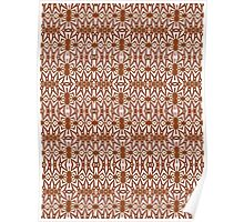 Brown and White Abstract Design Pattern Poster