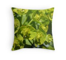 Lime Jello Plant Throw Pillow