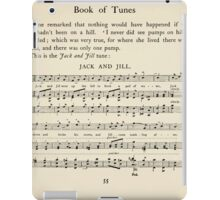 The April Baby's Book of Tunes by Elizabeth art Kate Greenaway 1900 0087 Jack and Jill iPad Case/Skin