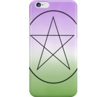 Non Binary, Pagan and Proud! iPhone Case/Skin
