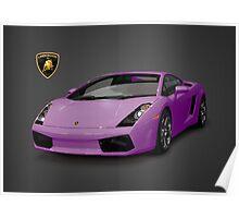 Purple Lamborghini Gallardo 2003 Poster